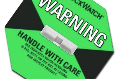 Green Shockwatch Label