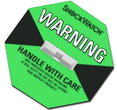 Green Shockwatch Label