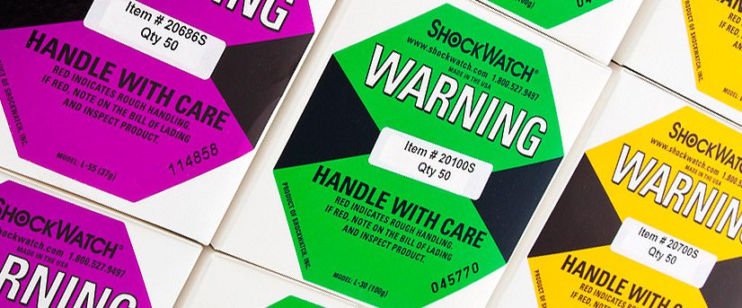 Shockwatch Shipping Labels – The preferred solution for shock and vibration damage