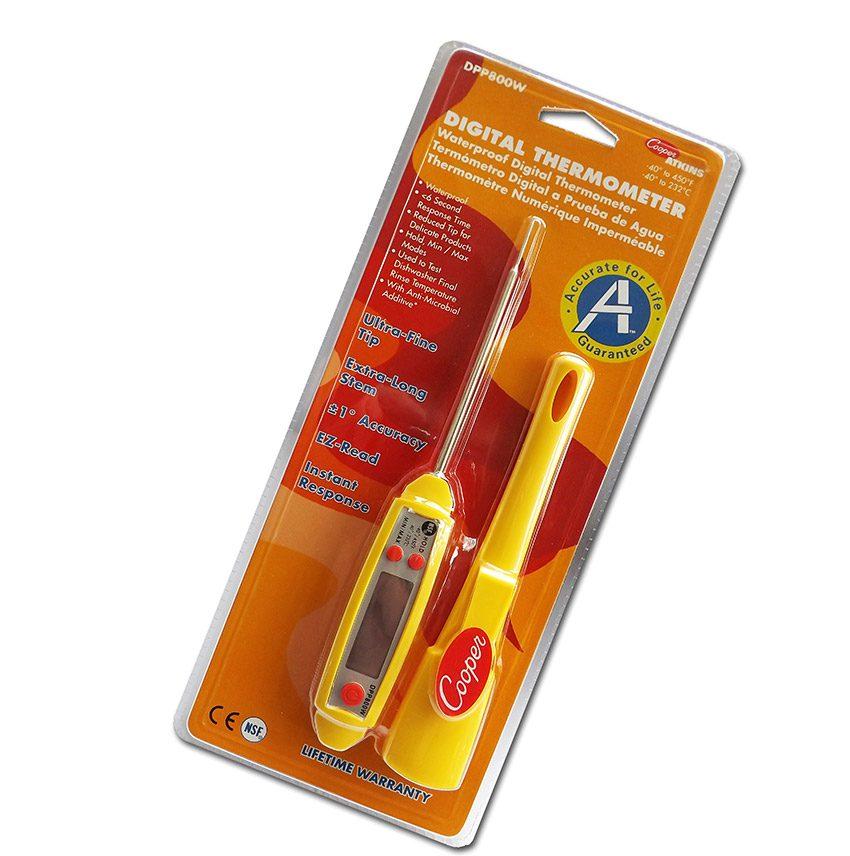 Food Probe Thermometer - Waterproof w/ Jumbo Screen